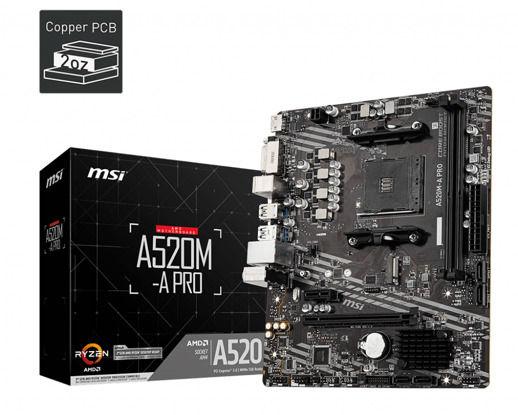 msi a520m a pro gaming motherboard